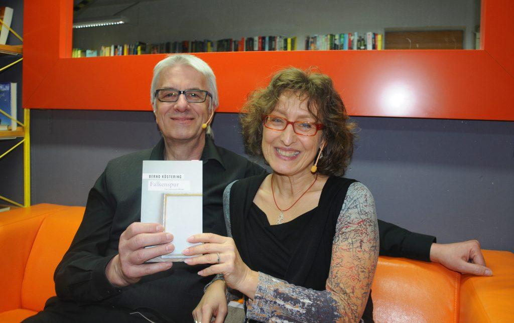 Lesung Falkenspur mit Bernd Köstering und Christiane Stiller in Dietzenbach 2017, Foto: Teresa Kammermeier